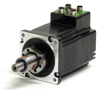 Jvl integrated stepper motor with linear actuator mil34 for Servo motor linear actuator