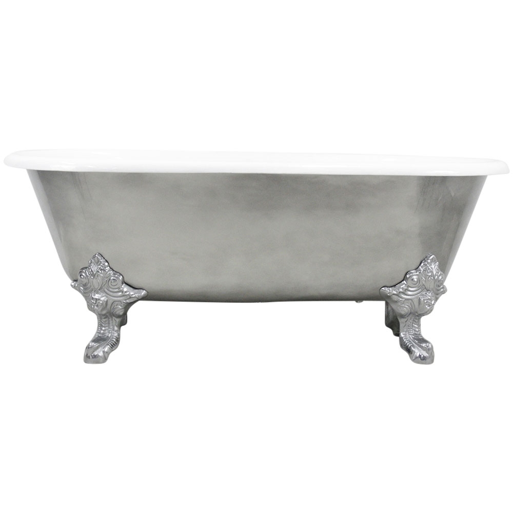 The Canterbury  Cast Iron Double Ended Clawfoot Bathtub With - Accessories for clawfoot tub