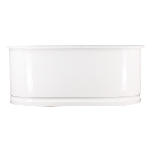 "<br>'The Cartmel61' 61"" Cast Iron Metal Skirted Double Ended Tub and Drain<BR>"