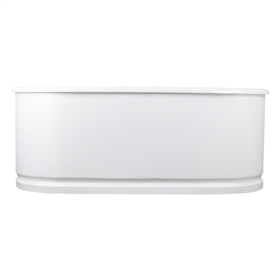 "<br>'The Cartmel73' 73"" Cast Iron Metal Skirted Double Ended Tub and Drain<BR>"