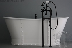 "<br>'The Charterhouse' 68"" Cast Iron French Bateau Tub with Riveted Straps plus Drain<BR>"