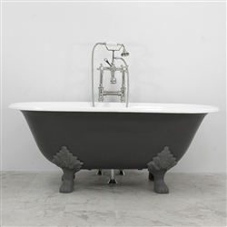 "<br>'The Greyfriars' 61"" Cast Iron Double Ended Clawfoot Tub<BR>plus Drain<BR>"