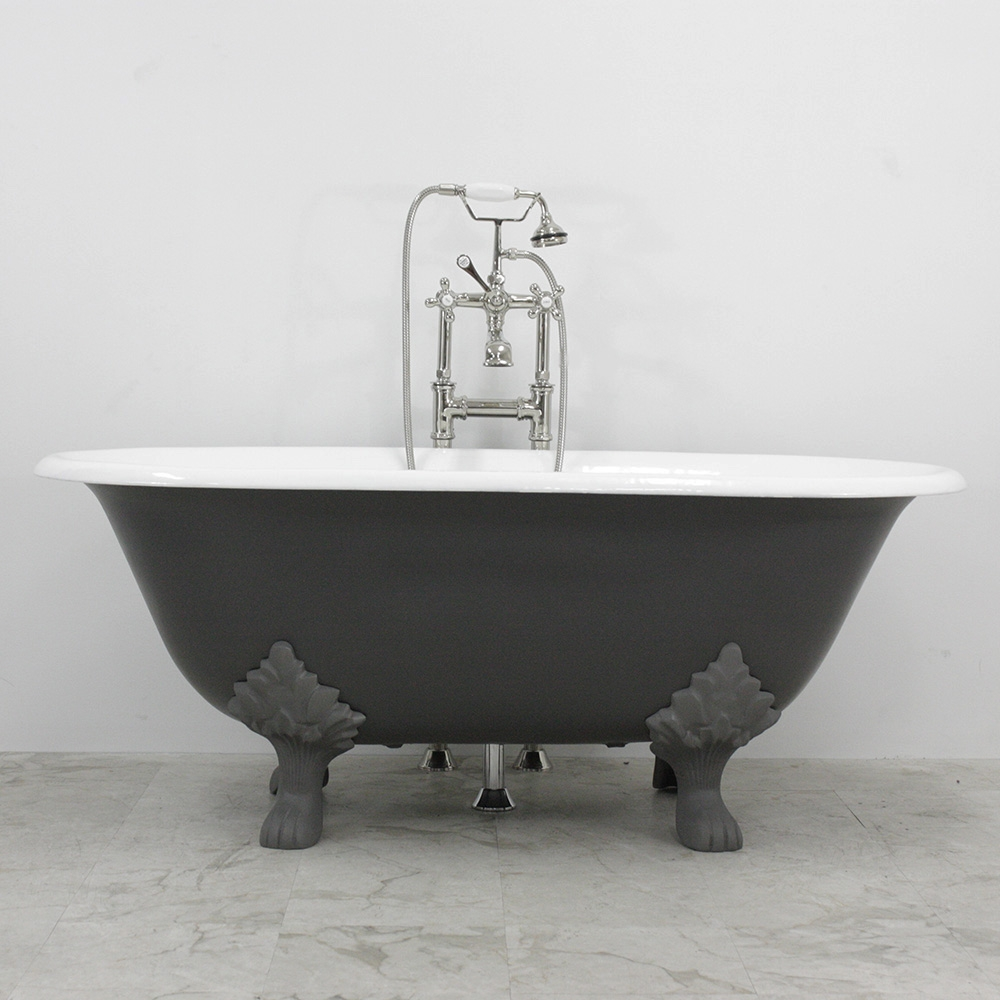 """Greyfriars 61"""" Cast Iron Double Ended Tub Package with ..."""