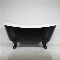'The Leonard' 68 Vintage Designer Cast Iron Clawfoot Bateau Bathtubs from Penhaglion.