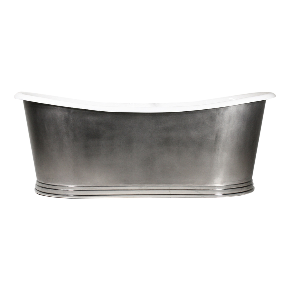 The Nonsuch73 73 Quot Cast Iron French Bateau Tub With Mixed