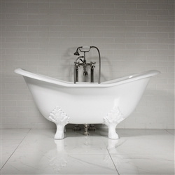 'The Smithfield61' 61 Vintage Designer Cast Iron Clawfoot Bateau Bathtubs from Penhaglion.