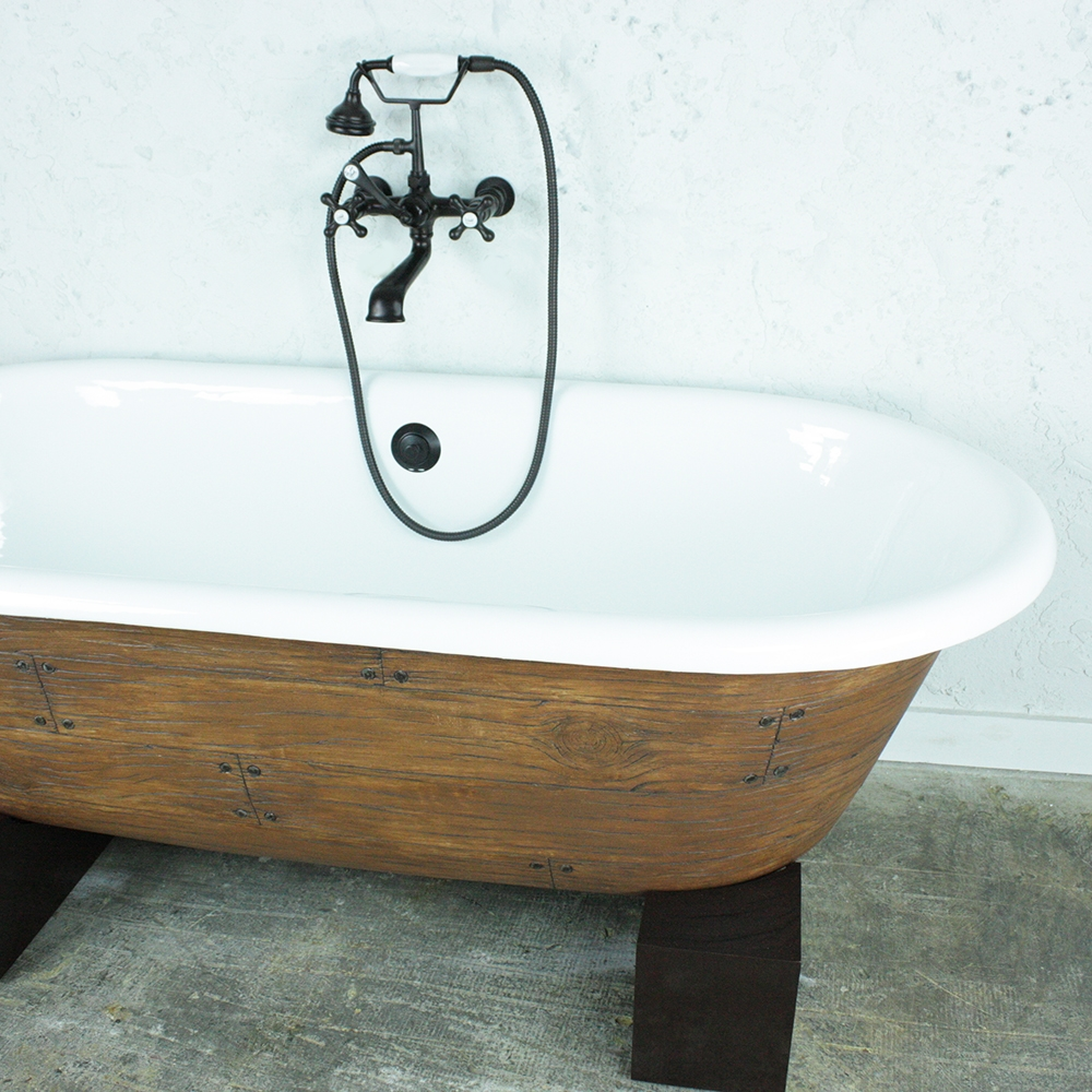 The Vale  Cast Iron Double Ended Clawfoot Bathtub With A - Accessories for clawfoot tub