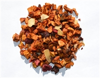 Caffeine-free cherry flavored fruit tisane is good iced or hot