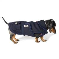 Reversible Navy Blue Dachshund Peacoat