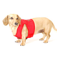 Cherry Red Classic Never-Choke Dachshund Harness