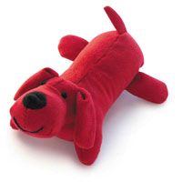 Red Squeaky Puppy Toy