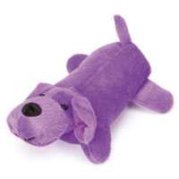 Purple Squeaky Puppy Toy