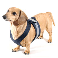 Denim Delight Easy-Go Never-Choke Dachshund Harness
