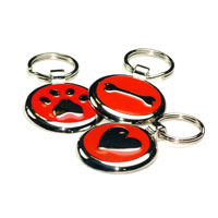 Cherry Red Dachshund ID Tags