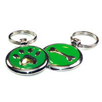 Grass Green Dachshund ID Tags