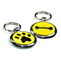 Sunshine Yellow Dachshund ID Tags