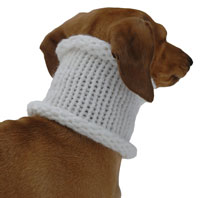 Tinsel White Noodle Boodle Dachshund Neck Warmer