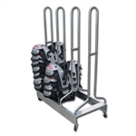 Pro Down 4-Stack Football Shoulder Pad Rack - 60 Pads