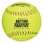 diamond softball kevlar seam pitching machine softball 11mbp - 1 dozen