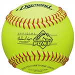 "Diamond 11"" Official Pony League Fastpitch Softballs - 6 Dozen"