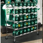Football Helmet Cart with Heavy Duty Wheels
