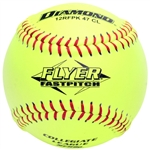 "diamond flyer 12"" collegiate leather fastpitch softballs 12rfpk 47 cl - dozen"