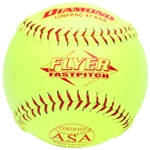 "diamond flyer 12"" asa fastpitch softballs 12rfpsc 47 asa - dozen"