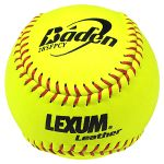 "baden 2bsfpcy lexum 12"" fastpitch leather game softballs dozen"