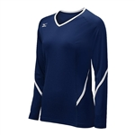mizuno womens techno generation long sleeve volleyball jersey 440399