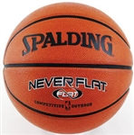"Spalding NBA NeverFlat 28.5"" Rubber Basketball"