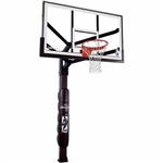 "spalding 60"" glass arena view h-series in-ground basketball hoop"
