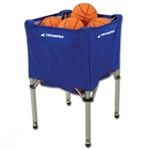 champro sports foldup rolling basketball volleyball cart