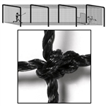 Baseball Collegiate Batting Cage Tunnel Netting 55x14x12
