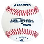 champro cbb-200hs nfhs approved leather baseball