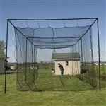 Commerical Batting Cage Package #42 KVX200 Net/Poles/L-Screen 12x14x55