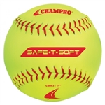 "champro 11"" safe-t-soft softballs - dozen"