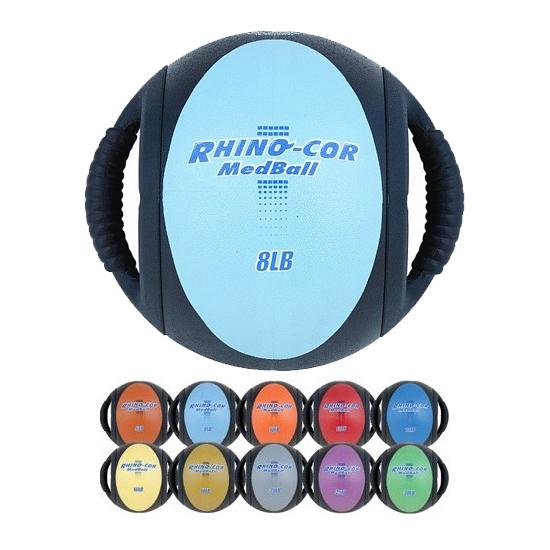 Champion Sports Rhino Cor Handled Medicine Balls 6lbs