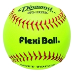 "diamond dfx-12rfp flexiball 12"" leather practice softballs"
