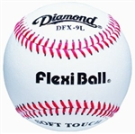 diamond dfx-9l flexiball indoor practice baseballs - dozen