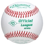 diamond nfhs official league leather game baseballs dol-mvp - dozen