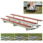 Aluminum Bleachers with Double Footboard  Four Row - 27-Foot Seats 54