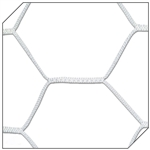 champro nfhs braided soccer goal net 4.0 mm hexagon pattern - white