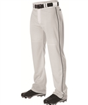 alleson adult warp knit baseball pants w piping pwrpbp