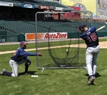 baseball 7x7 soft toss batting net and frame