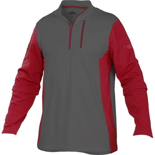 Rawlings Adult 1/4 Zip Tech Fleece Baseball Pullover TECHF ...