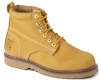 Rhino 6 inch Plain toe Leather Work Boot - Tan 61M26