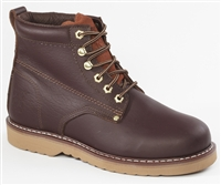61M28 Rhino 6 inch Plain toe Leather Work Boot - Brown