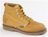 Rhino 6 inch Moc Toe Leather Work Boot -Tan 62M26