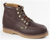 Rhino 6 inch Moc Toe Leather Work Boot - Brown 62M28