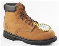 68S58 - Rhino 6 Inch Safety Toe Lug Nubuck Work Boot - Brown